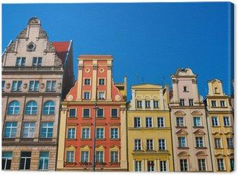 Obraz na Płótnie Rynku kwadratowych kamienice, Wrocław Polska