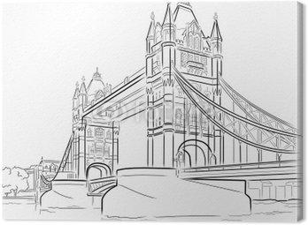 Rysunków wektorowych z Tower Bridge, Londyn, Wielka Brytania