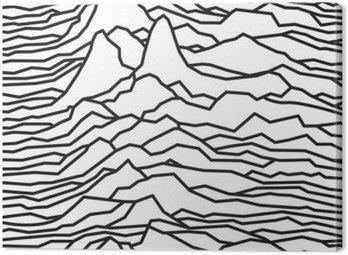 Obraz na Płótnie Rytm fal, pulsara, linie wektora projektowania, przerywaną, góry