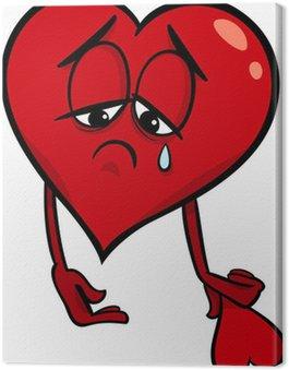 Obraz na Płótnie Sad broken heart cartoon ilustracji