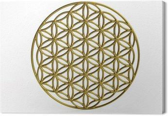 Obraz na Płótnie Sakralna Symbol Kwiat życia w 3D