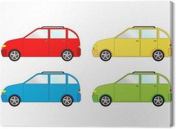 Obraz na Płótnie Samochód hatchback - paczka, wektor