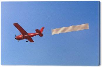 Obraz na Płótnie Samolot z komunikatem w niebie