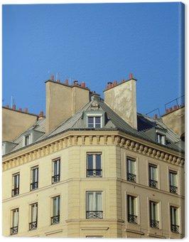 Obraz na Płótnie Sąsiedztwo fasada w Paryżu