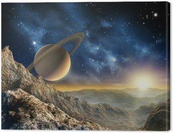 Obraz na Płótnie Saturn moon
