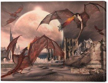 Scena Fantasy Z Fighting Dragons