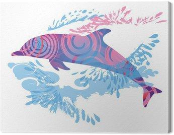 Obraz na Płótnie Schattenhklecks delfin