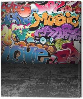 Obraz na Płótnie Ściany graffiti urban street art painting