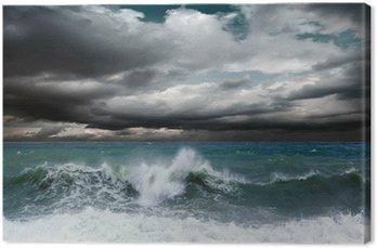 Obraz na Płótnie Seascape widok burzy