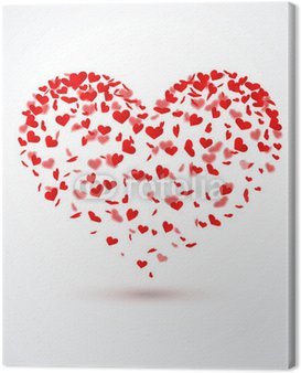 Obraz na Płótnie Serca konfetti - Heart Shape