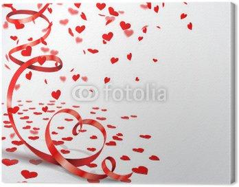 Obraz na Płótnie Serce Confetti - Serce Streamer