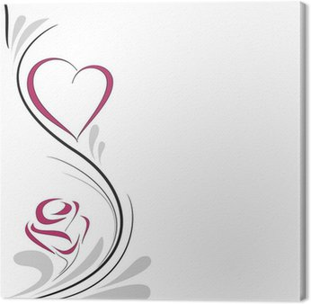 Obraz na Płótnie Serce i róża dekoracji