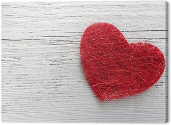 Obraz na Płótnie Serce na drewnie