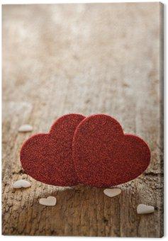 Obraz na Płótnie Serce na drewno z miejsca kopiowania