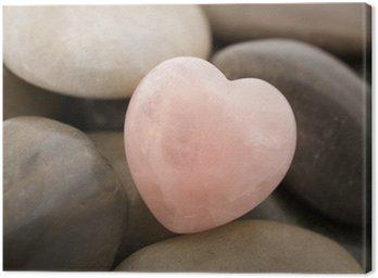 Obraz na Płótnie Serce Rose Quartz