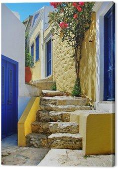 Obraz na Płótnie Seria kolorowych Greek islands - Symi