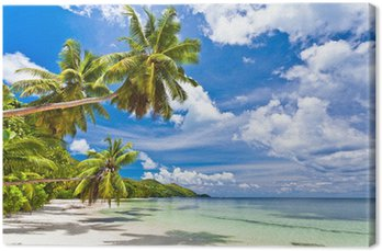 Obraz na Płótnie Seszele plaża kokosowe