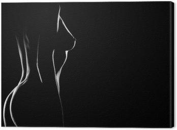 Obraz na Płótnie Sexy ciało nagie piersi kobieta. Naked zmysłowy