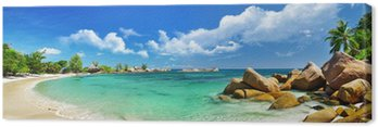 Obraz na Płótnie Seychelles, plaża panorama