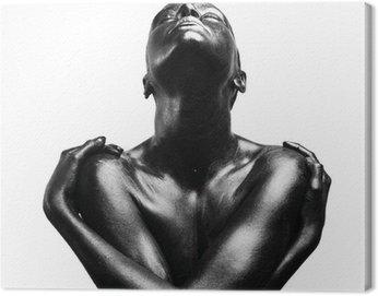 Obraz na Płótnie Składa się czarna kobieta