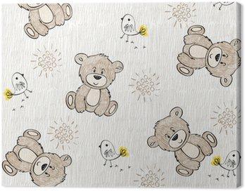 Obraz na Płótnie Śliczne ręcznie rysować szwu dla dzieci.