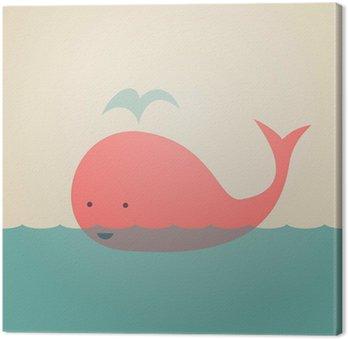 Obraz na Płótnie Śliczne Whale