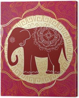 Słoń indyjski z mandali
