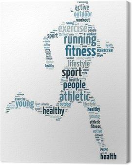 Obraz na Płótnie Słowa ilustracja człowiek jogging na białym tle