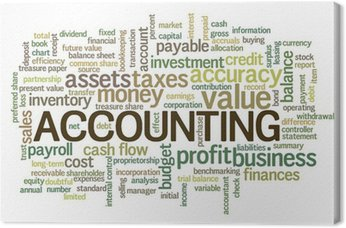 Obraz na Płótnie Słowo rachunkowości Word Chmura tagów Bubble
