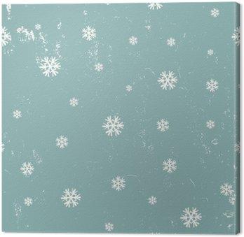Obraz na Płótnie Snowflakes seamless pattern.
