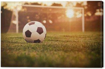 Obraz na Płótnie Soccer sunset