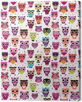 Obraz na Płótnie Sowa wzór powtarzalne colourfull dla dzieci w wektorze