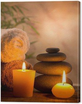 Obraz na Płótnie Spa martwa natura z aromatycznych świec