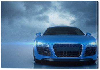 Obraz na Płótnie Sport samochodowy niebieski