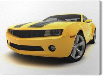 Obraz na Płótnie Sportowy samochód - Samochód wyścigowy