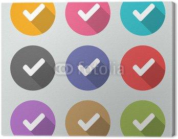 Obraz na Płótnie Sprawdź ikonę znaku - mieszkanie motywy