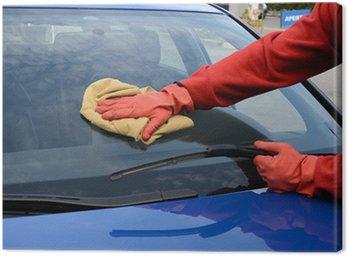 Obraz na Płótnie Sprzątanie samochodów