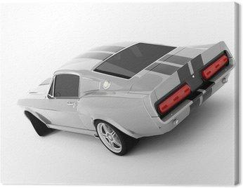 Obraz na Płótnie Srebrzysty klasyczny samochód sportowy