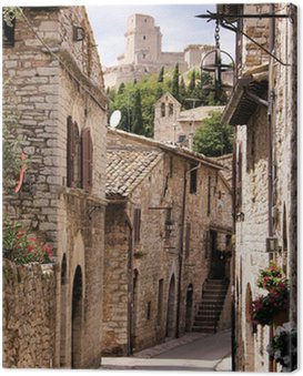 Obraz na Płótnie Średniowieczna ulica włoski