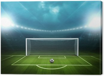 Obraz na Płótnie Stadion z piłką nożną