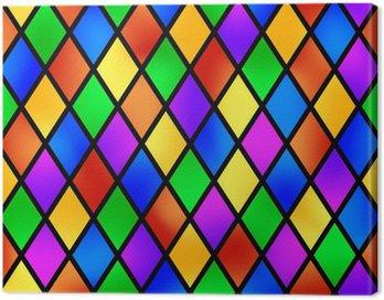Obraz na Płótnie Stained szkło wzór, ilustracji wektorowych