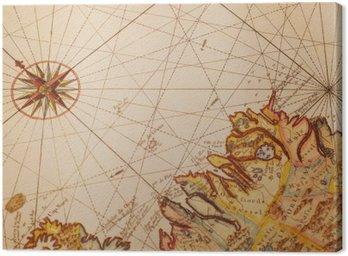 Obraz na Płótnie Stara mapa detal