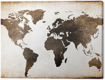 Obraz na Płótnie Stara mapa świata