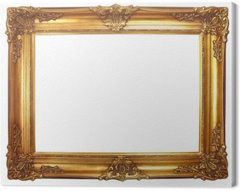 Obraz na Płótnie Stara rama z drewna złoconego