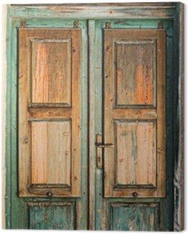 Obraz na Płótnie Stare drewniane drzwi