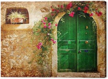 Obraz na Płótnie Stare greckie drzwi - obraz w stylu retro