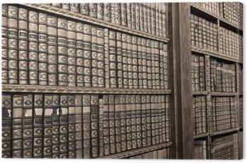 Obraz na Płótnie Stare książki ina biblioteka - sepia obraz