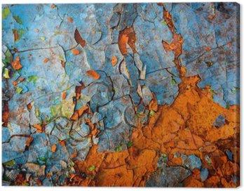 Obraz na Płótnie Stare pomalowane ściany