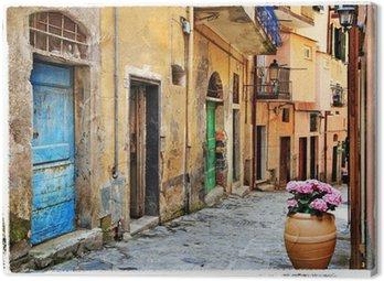 Obraz na Płótnie Stare ulice włoskich wiosek