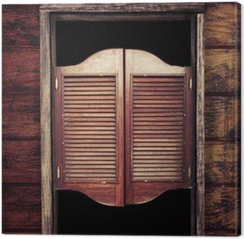 Obraz na Płótnie Stare zabytkowe drewniane drzwi saloon